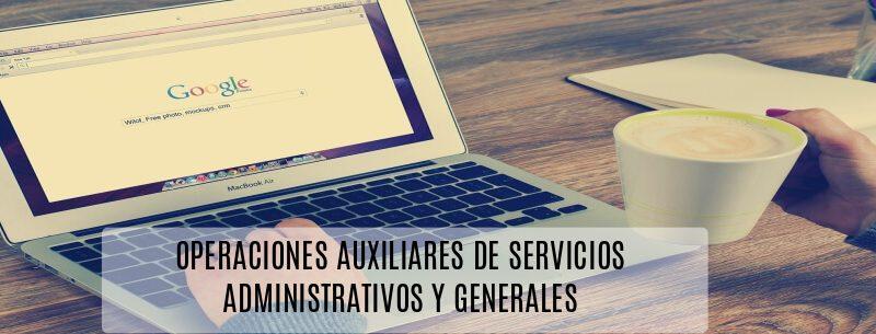OPERACIONES AUXILIARES DE SERVICIOS ADMINISTRATIVOS Y GENERALES , CURSO SEF AULANOVA