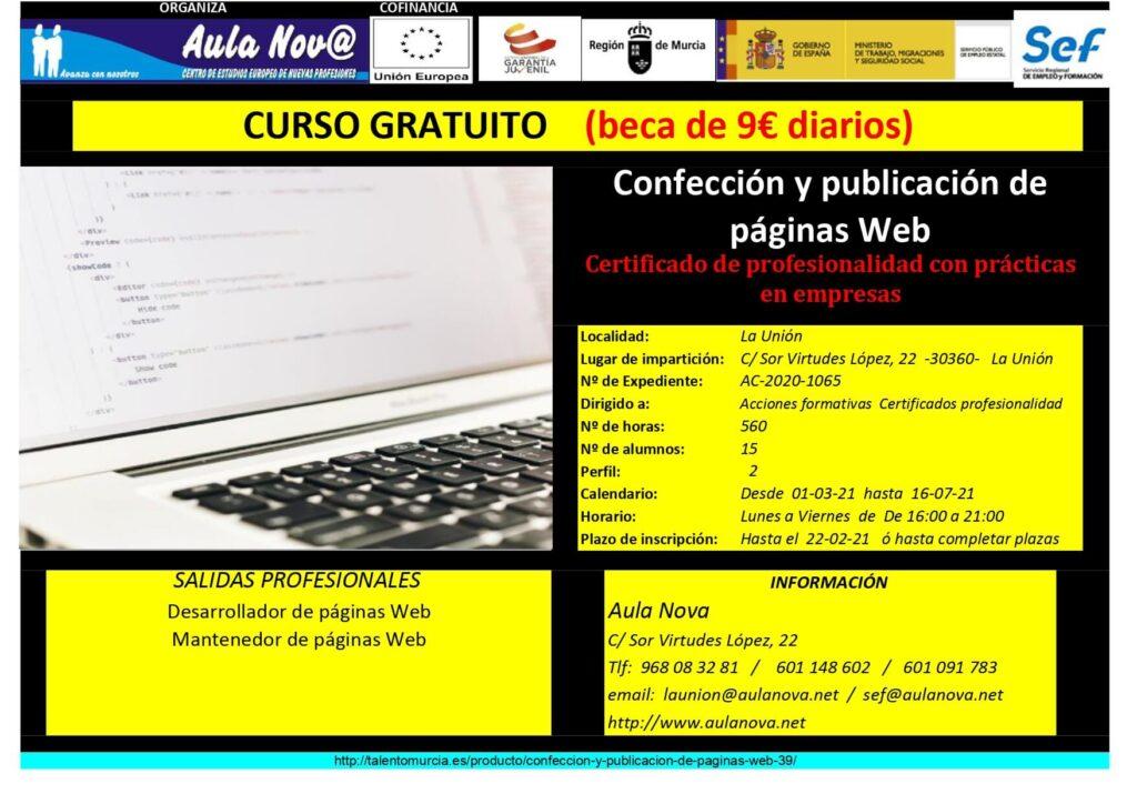 Curso SEF.- Confección y publicación de páginas Web
