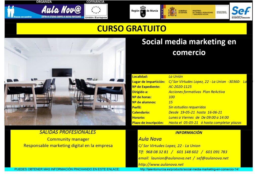 CURSO SEF SOCIAL MEDIA MARKETING EN COMERCIO